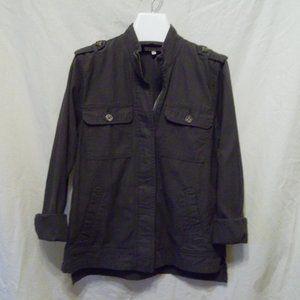 Maurices Twill Zip Up Jacket w Mandarin Collar
